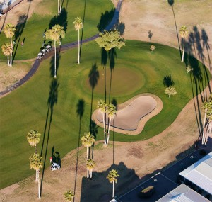 areal photo of golf course 2