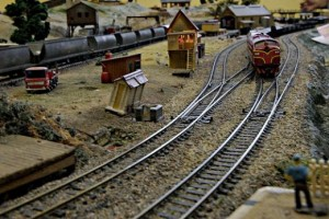 Model Train platform